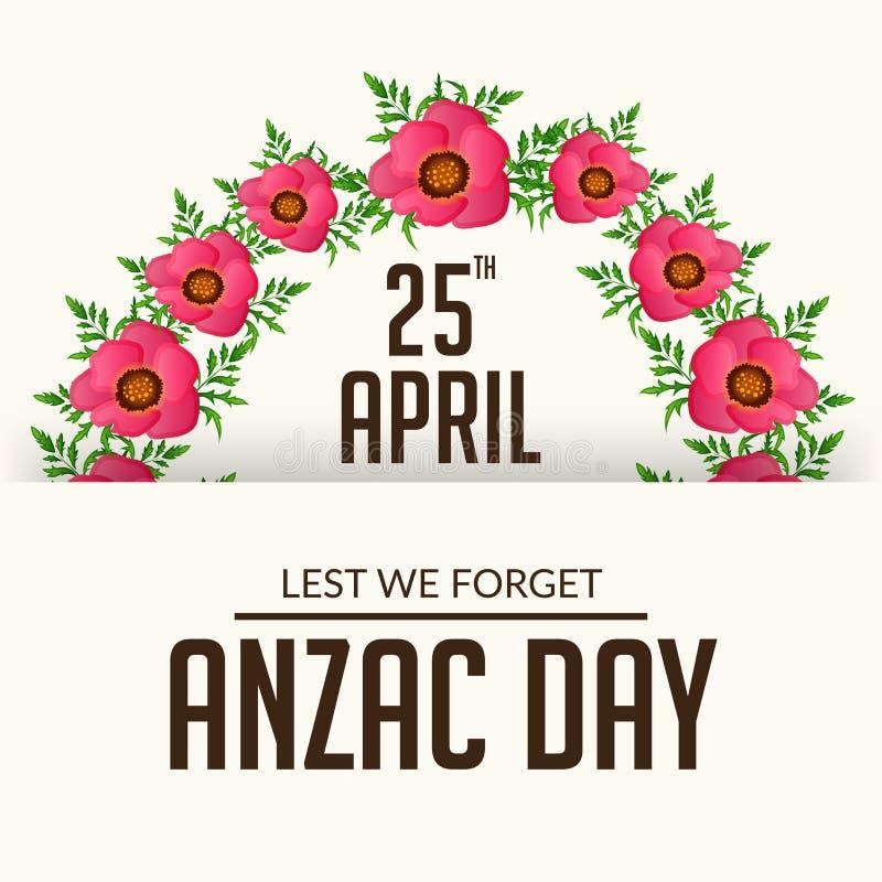 Anzac Day ilustração do vetor
