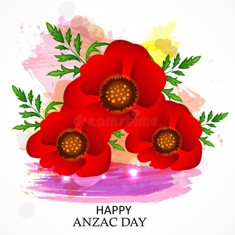 Anzac Day ilustração stock