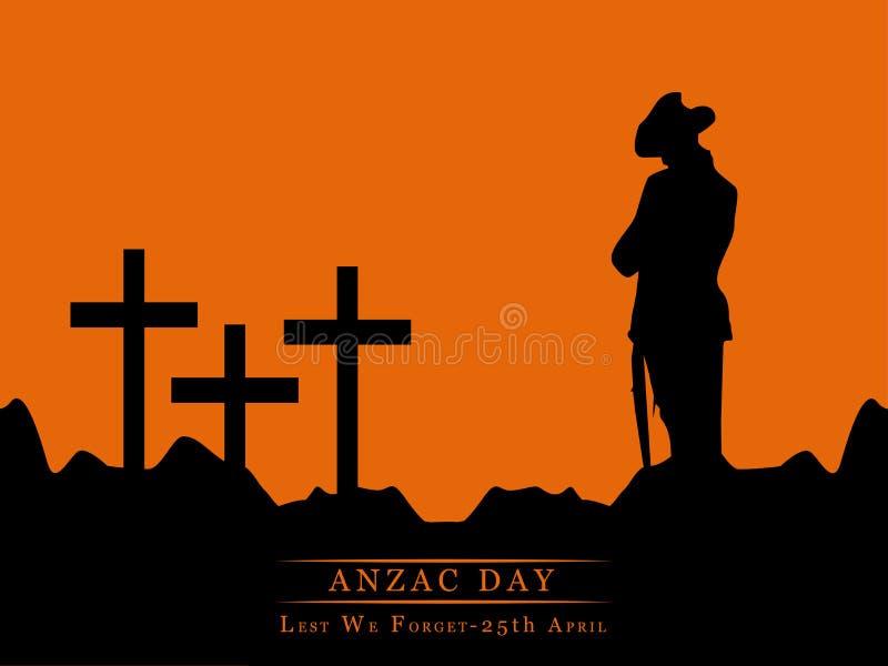 Anzac Day-achtergrond vector illustratie