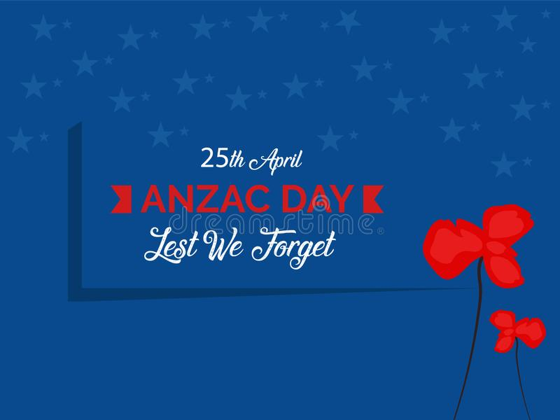 Anzac Day Australian War Remembrance Day Poster vector illustration