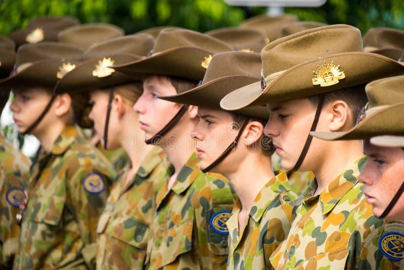 Anzac Day Cadets fotografie stock