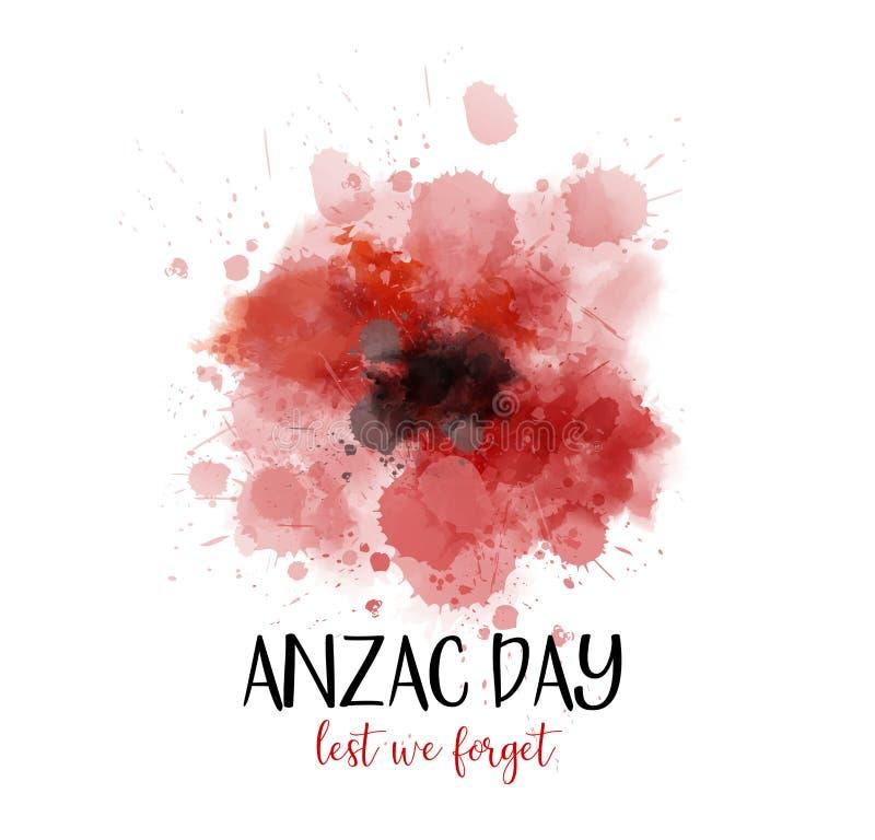 Anzac Day A fim de que não nós esqueçamos ilustração do vetor