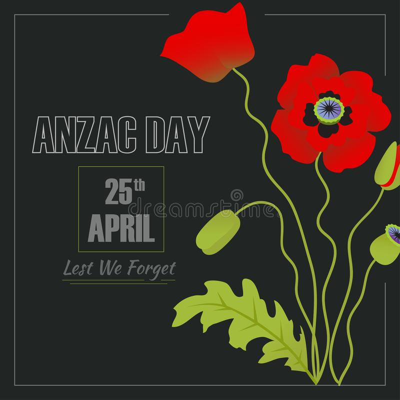 Anzac Day-Illustration stockfotos
