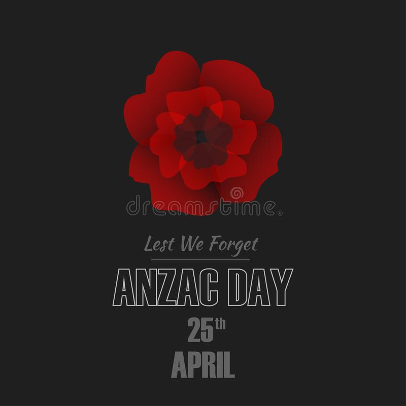 Anzac Day-Illustration lizenzfreie stockfotografie