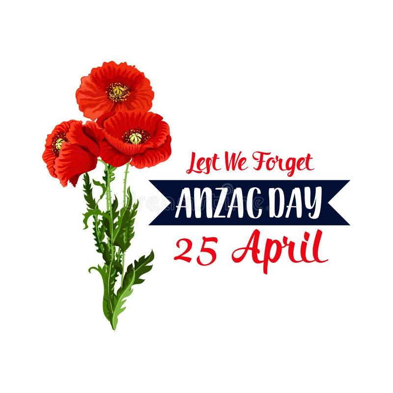 Download Anzac Day Lint Van Het De Papaver Vectorpictogram Van 25 April Het Rode Vector Illustratie - Illustratie bestaande uit leger, armistice: 107707480