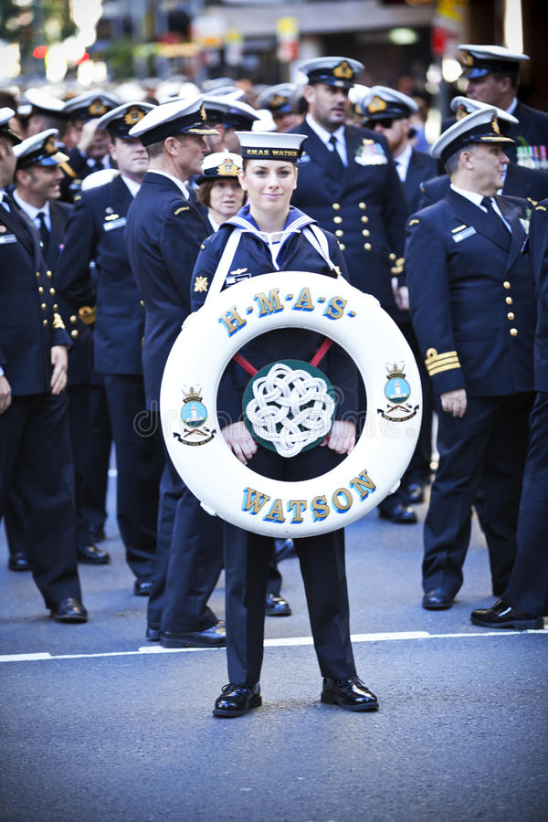 ANZAC Day Parade Australia images libres de droits
