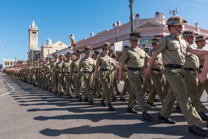 Anzac Day Parade, torres de las cartas, Australia fotografía de archivo libre de regalías