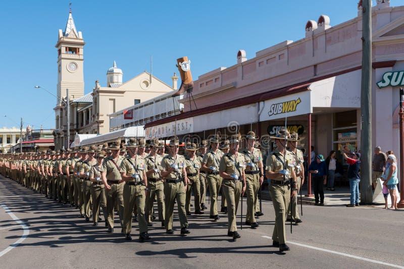Anzac Day Parade, tours de chartes, Australie images stock