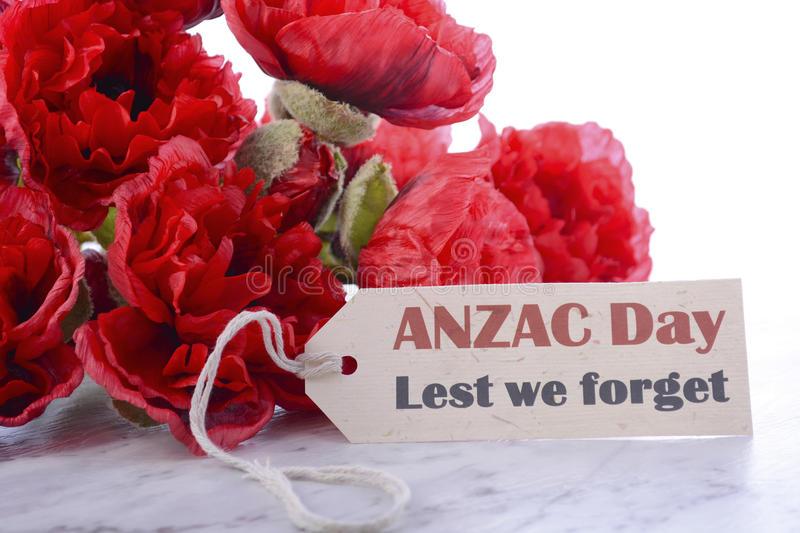 ANZAC Day Poppies image stock