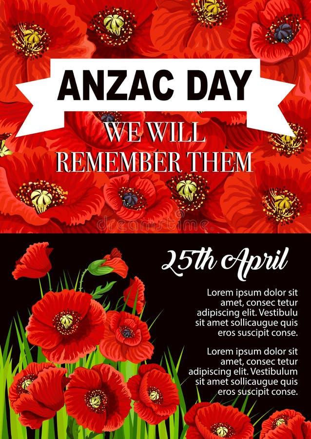 Anzac day poppy flower memorial poster design stock vector download anzac day poppy flower memorial poster design stock vector illustration of remember poppy mightylinksfo