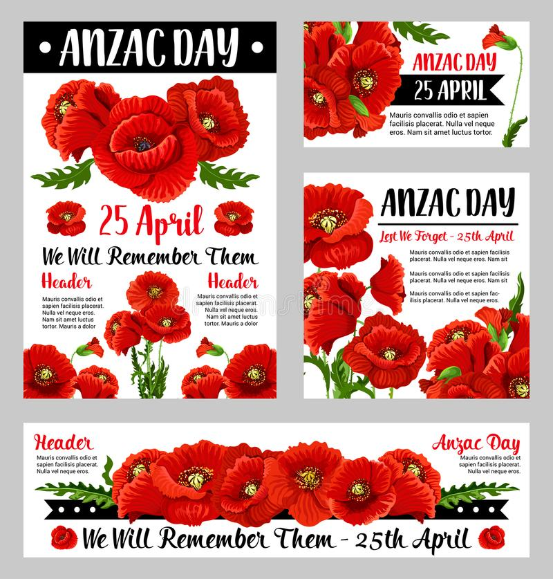 Anzac day poppy flower for poster or card design stock vector download anzac day poppy flower for poster or card design stock vector illustration of banner mightylinksfo