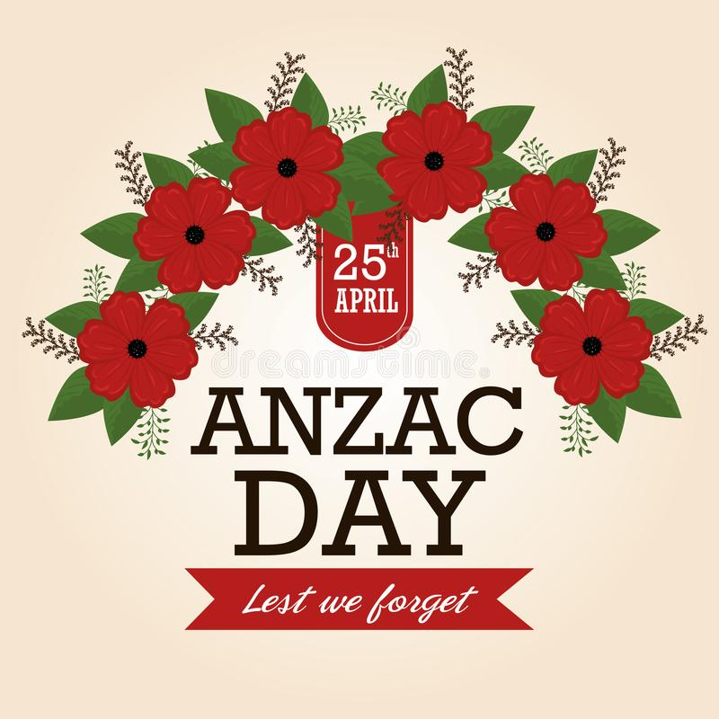 Anzac day poster with red poppy flower stock vector illustration download anzac day poster with red poppy flower stock vector illustration of background military mightylinksfo