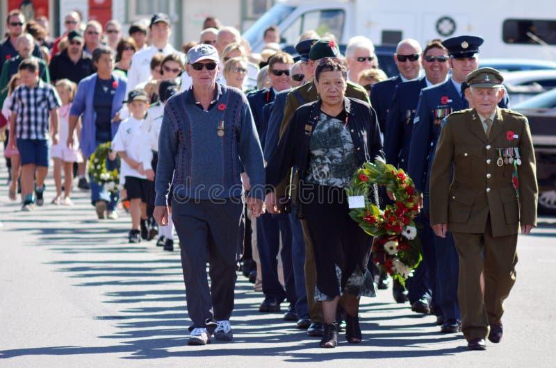 Anzac Day - War Memorial Service stock image