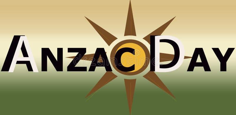 ANZAC-de Banner van het DAGteken vector illustratie
