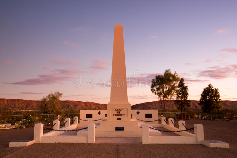 Anzac Hill Memorial image stock