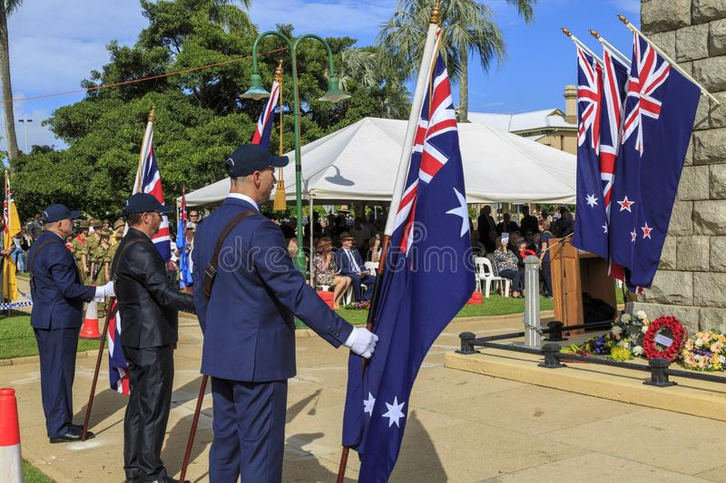 ANZAC March 2019 Sandage Queensland stock photography