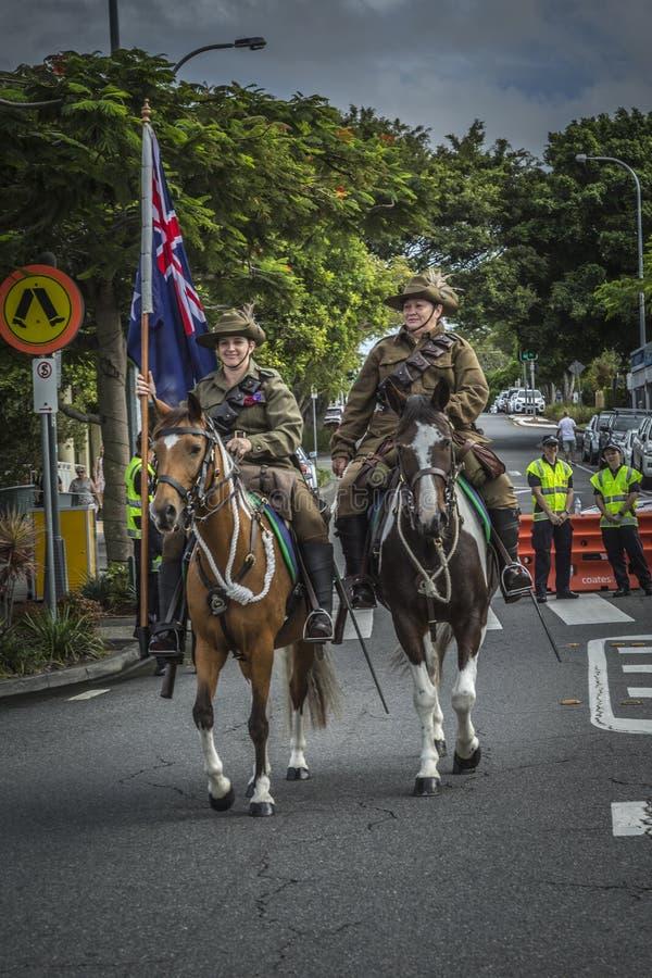 ANZAC March Women à cheval photographie stock
