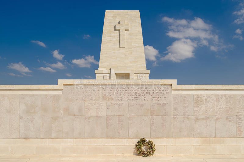Anzac Memorial au pin solitaire, Gallipoli images stock