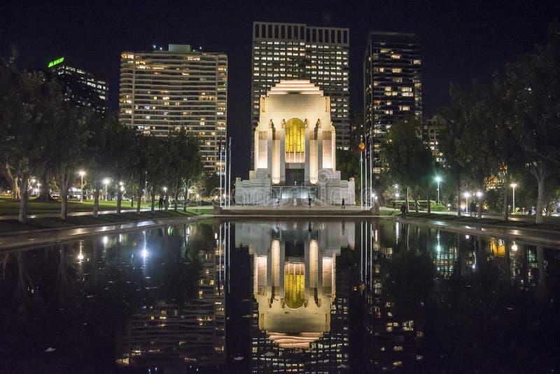 ANZAC Memorial la nuit, Sydney, Australie image libre de droits
