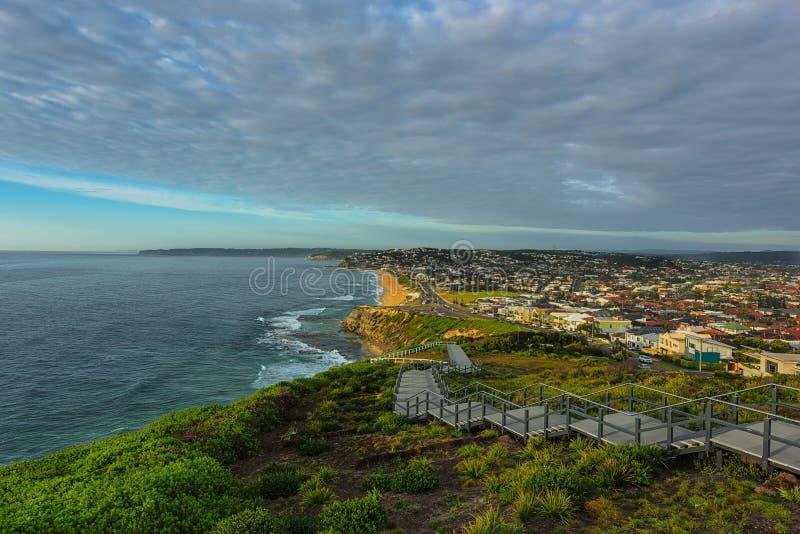 Anzac Memorial Walk- und Bar-Strand in Newcastle NSW Australien stockfoto
