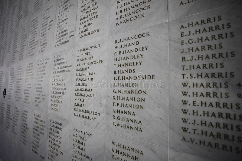 Anzac Memorial Wall photo stock