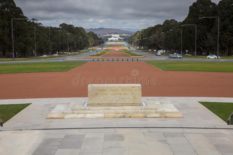 Anzac Parade, Canberra images stock
