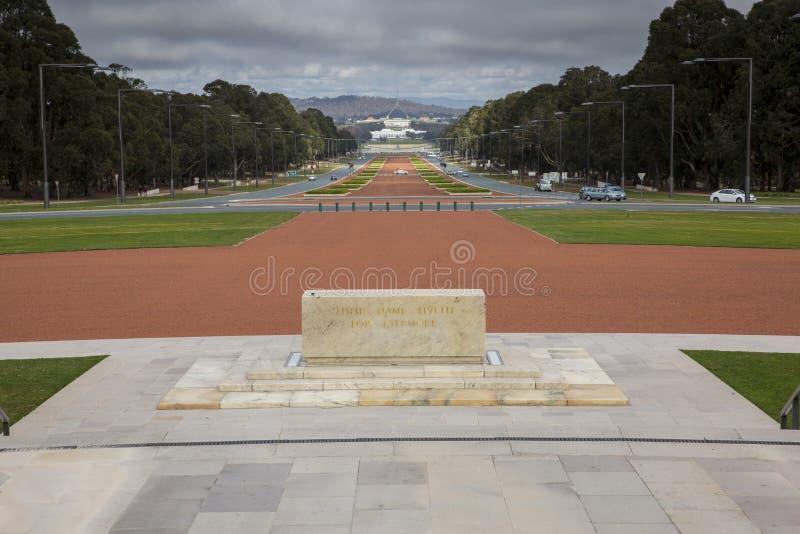 Anzac Parade Canberra arkivbilder