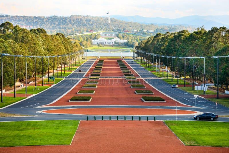 Anzac Parade, Canberra, Australie photo stock