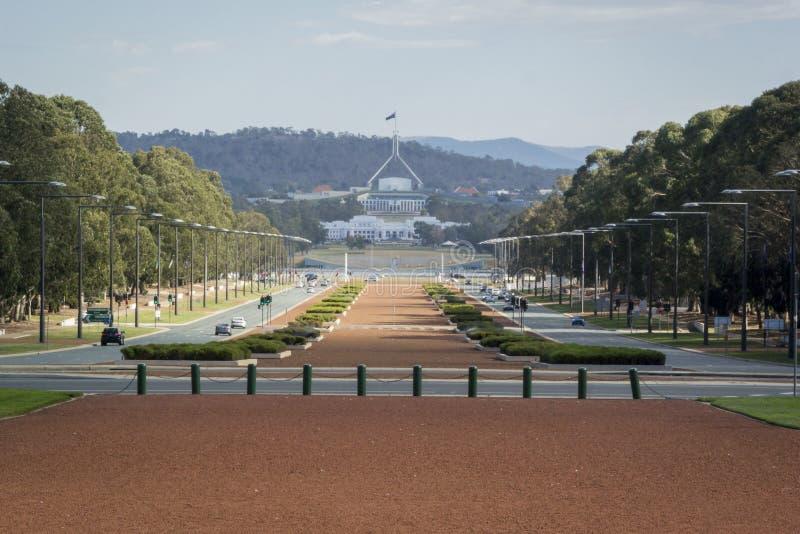 Anzac Parade, Canberra, Australien stockbilder