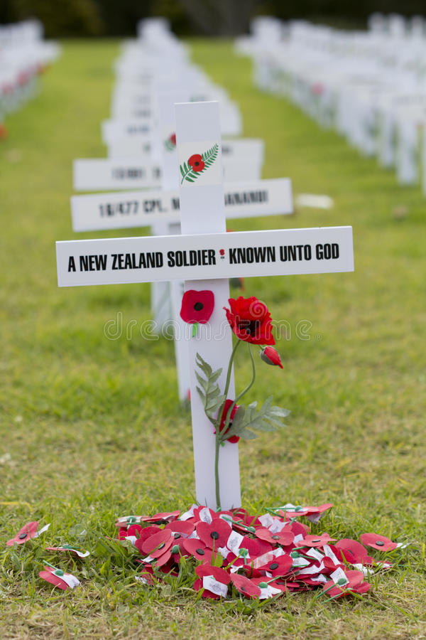 ANZAC Rememberance Crosses images stock