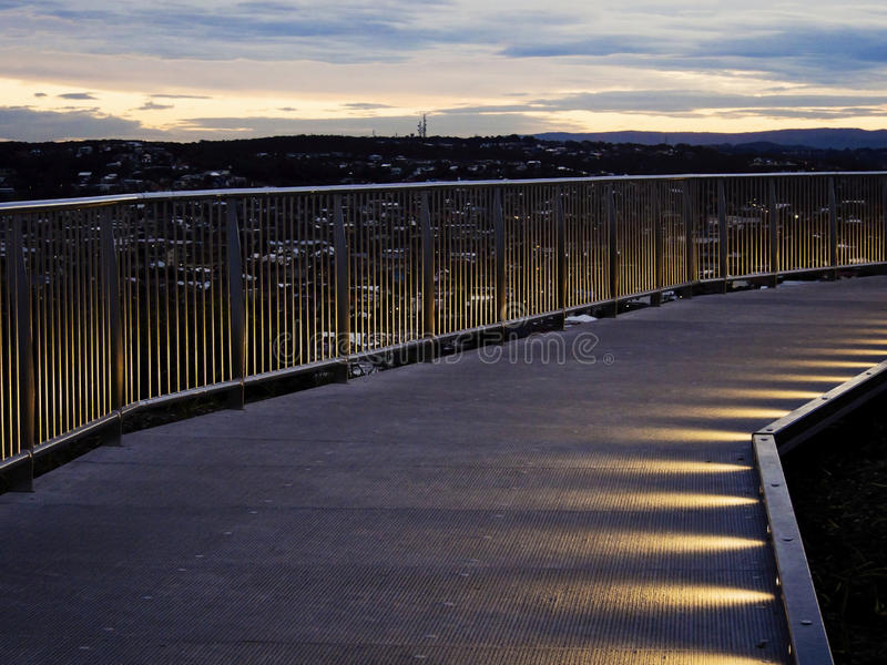 Anzac Walking-Brücke stockbild