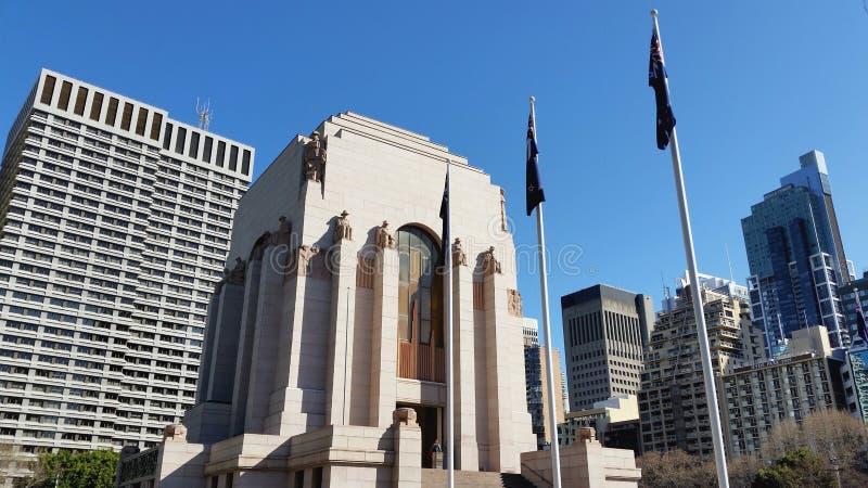 Anzac War Memorial em Hyde Park, Sydney, Austr?lia fotografia de stock