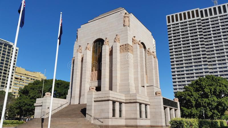 Anzac War Memorial en Hyde Park, Sydney, Australie image libre de droits