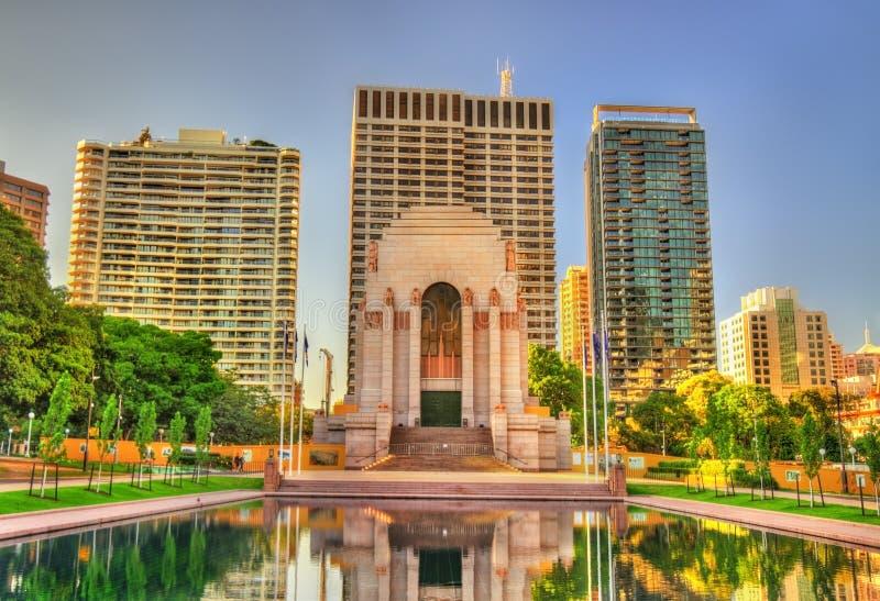 ANZAC Wojenny pomnik w Hyde parku - Sydney, Australia zdjęcie stock