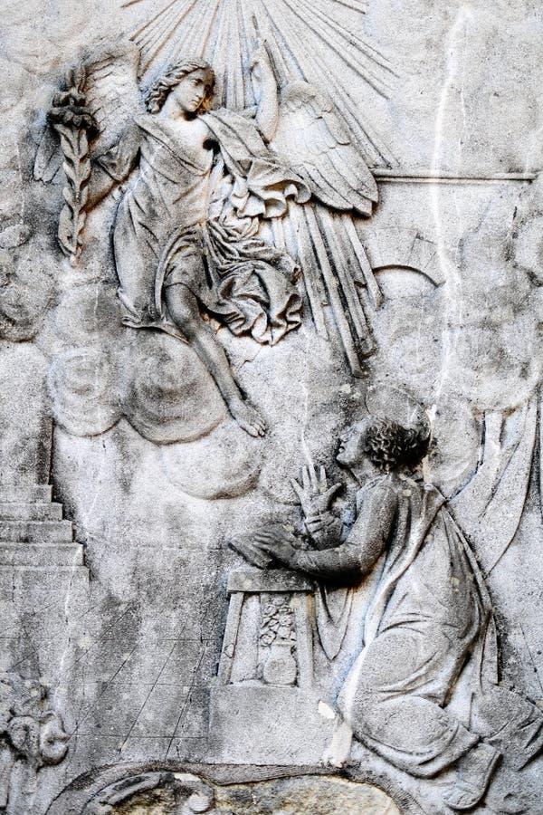 Anzeige - heiliger Mary und der Engel lizenzfreie stockfotos
