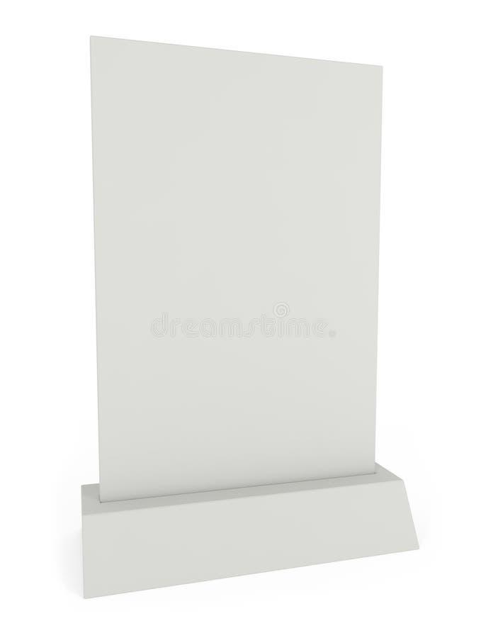 Anzeige-und Menü-Platte lokalisiert auf Weiß stock abbildung