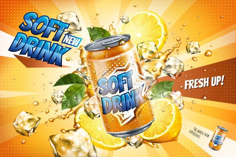 Anzeigen des alkoholfreien Getränkes lizenzfreie abbildung