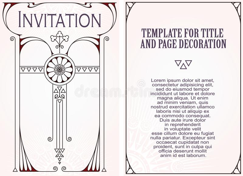 Anzeigen, Flieger, Einladungen oder Grußkarten vektor abbildung