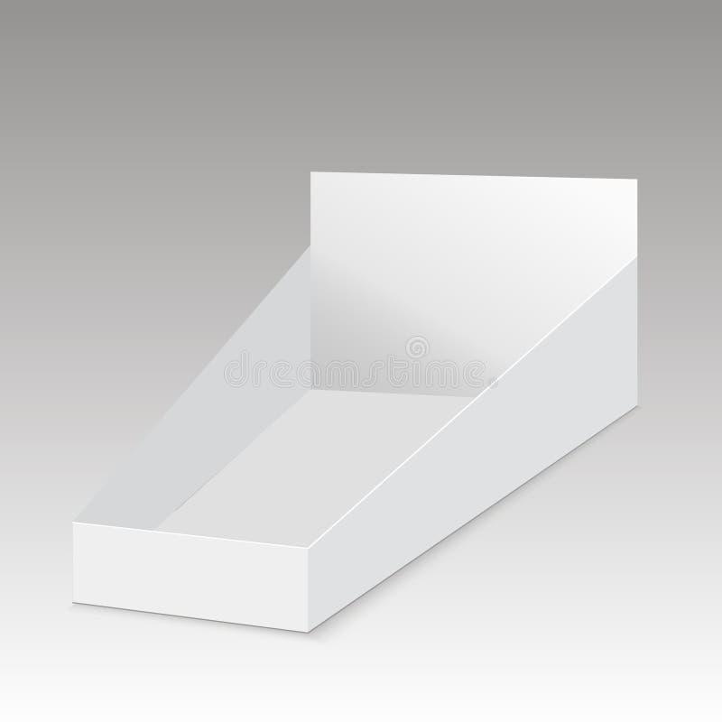 Anzeigenshow-Kastenhalter des freien Raumes Position POI Pappleerer Vector die scheinbare hohe Schablone, die zu Ihrem Design ber stock abbildung