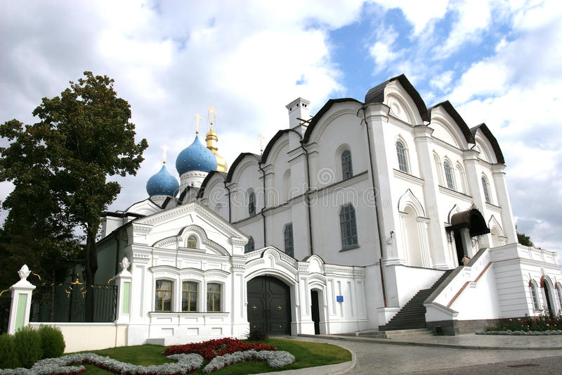 Anzeiges-Kathedrale Kazan Russland. stockfotos
