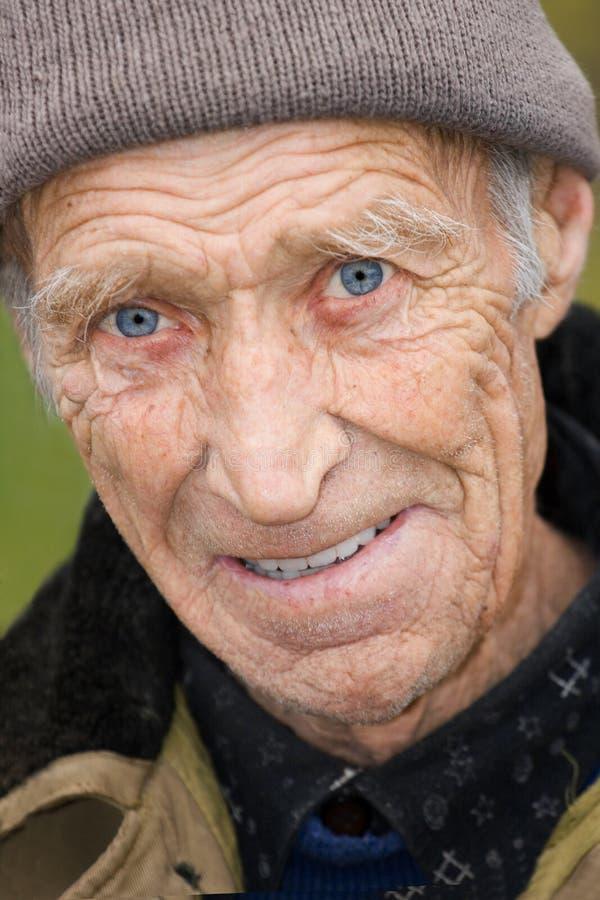 Anziani allegri l'uomo fotografia stock