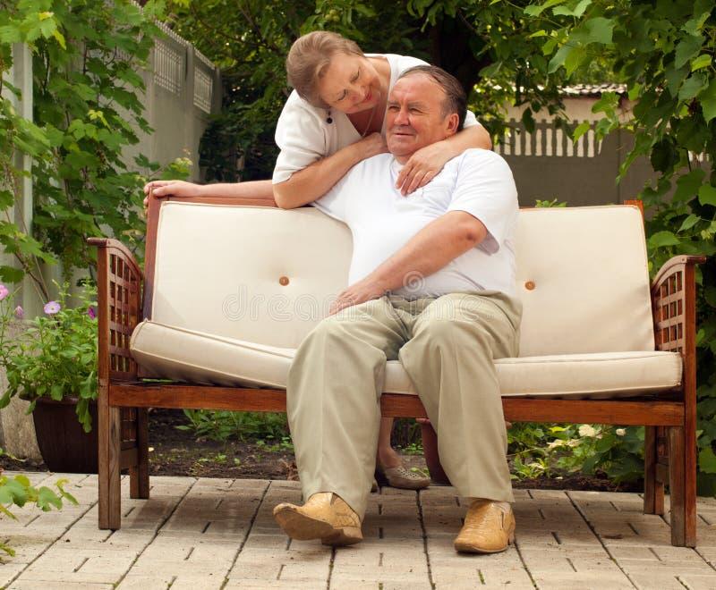 Anziani delle coppie immagini stock libere da diritti