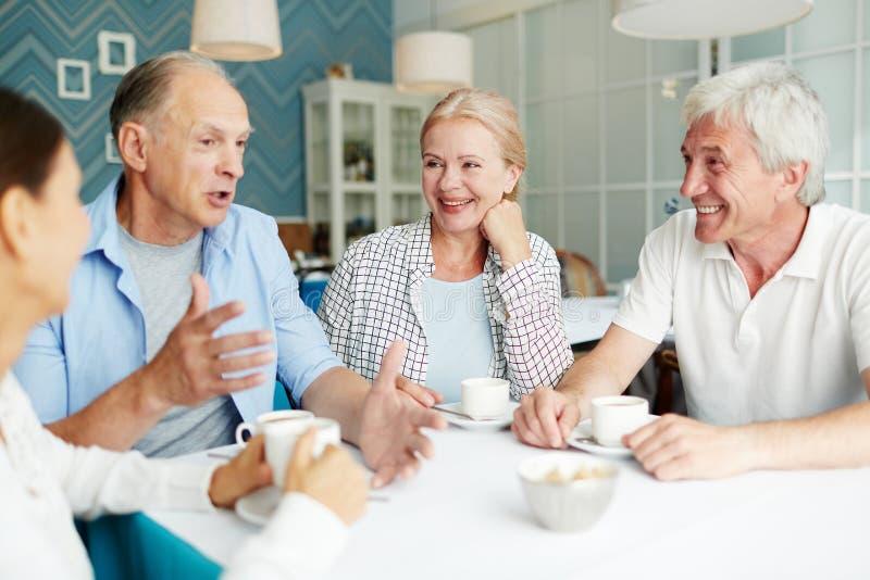 Anziani di conversazione immagine stock