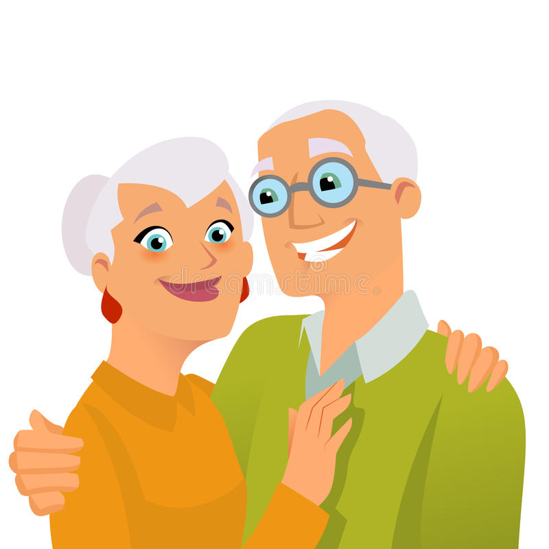 Anziani felici illustrazione di stock