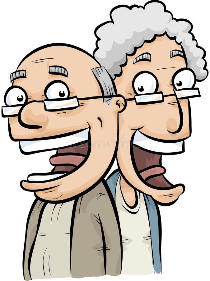 Anziani felici illustrazione vettoriale