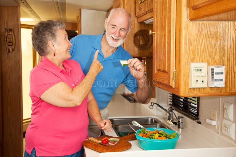 Anziani rv - Hubby affamato immagine stock
