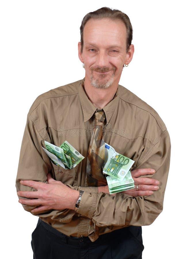 Anziano con contanti fotografia stock libera da diritti