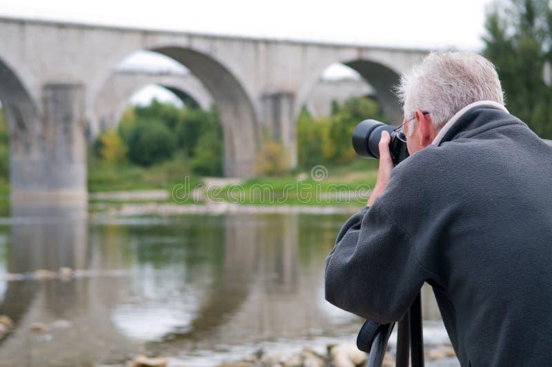 anziano del fotografo immagini stock libere da diritti