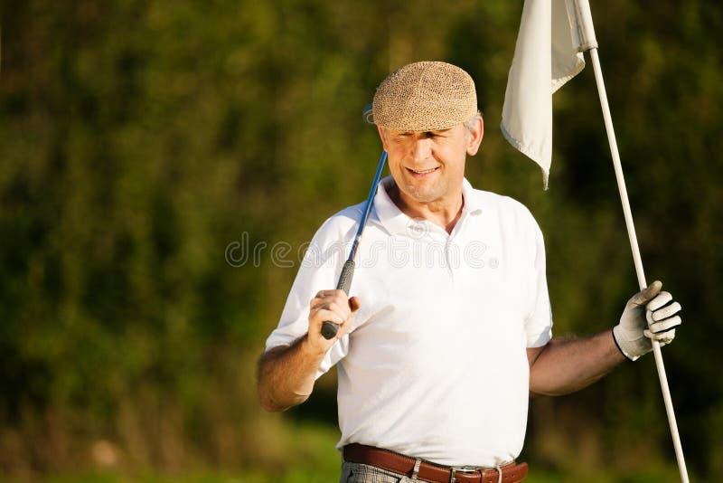anziano del giocatore di golf immagini stock