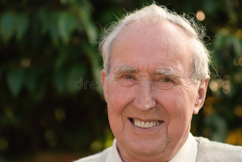 anziano del ritratto fotografie stock
